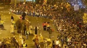 La cabalgata de reyes en Madrid 2016