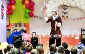 Animación para fiestas temáticas infantiles Frozen en Madrid.